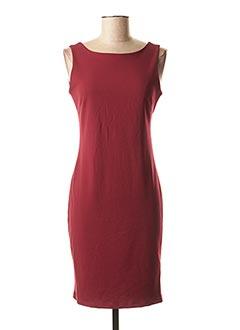 Robe mi-longue rouge LYNNE pour femme