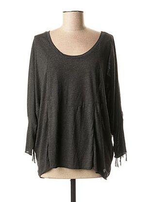 T-shirt manches longues noir BSB pour femme