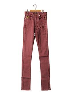 Jeans coupe slim rouge APRIL 77 pour femme