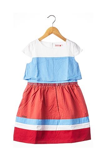 Robe mi-longue rouge BOBOLI pour fille