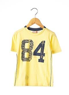 T-shirt manches courtes jaune BOBOLI pour garçon