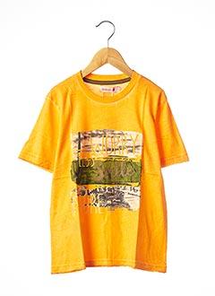 T-shirt manches courtes orange BOBOLI pour garçon