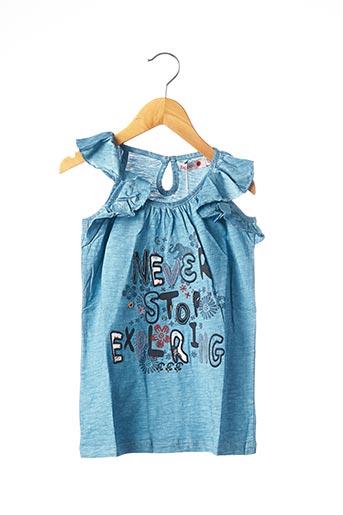 T-shirt manches courtes bleu BOBOLI pour fille