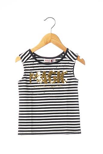 T-shirt manches courtes noir BOBOLI pour fille