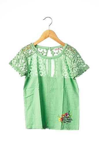 T-shirt manches courtes vert BOBOLI pour fille