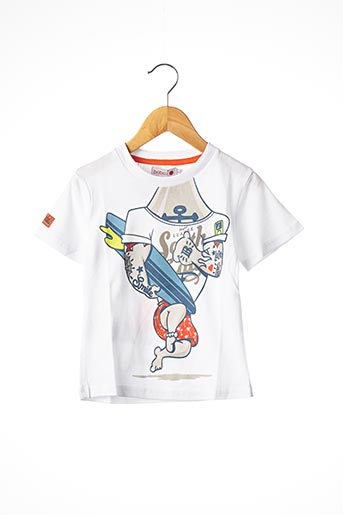 T-shirt manches courtes blanc BOBOLI pour garçon