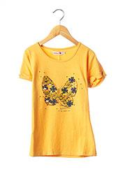 T-shirt manches courtes orange BOBOLI pour fille seconde vue