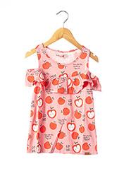 T-shirt manches courtes rouge BOBOLI pour fille seconde vue
