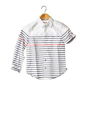 Chemise manches longues blanc BOBOLI pour garçon