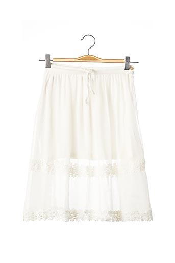 Jupe mi-longue blanc BOBOLI pour fille