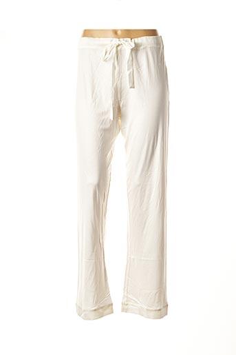 Pantalon casual blanc LOU pour femme