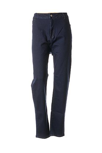 Jeans coupe slim bleu PIMENT ROUGE pour femme