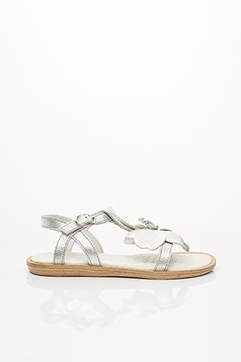 Sandales/Nu pieds gris ACEBOS pour fille