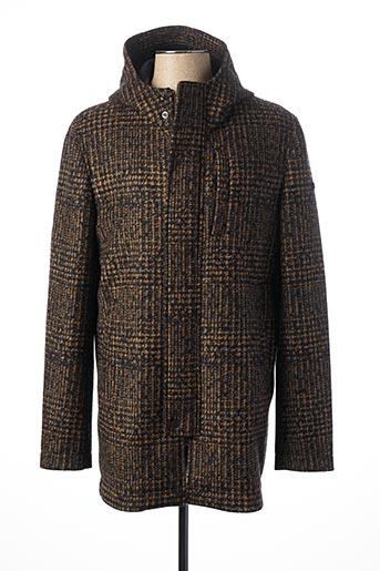Manteau long marron MANUEL RITZ pour homme