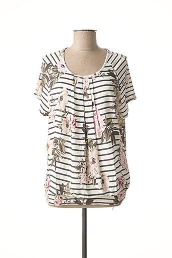 T-shirt manches courtes rose FRANK WALDER pour femme