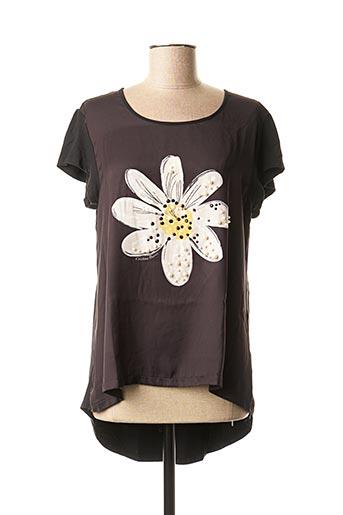 T-shirt manches courtes noir CRISTINA BARROS pour femme