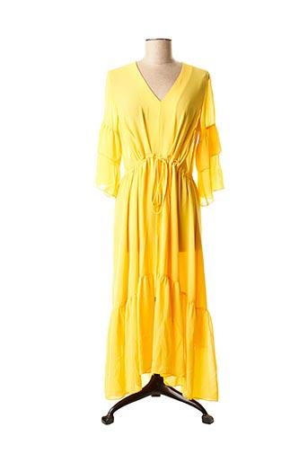 Robe longue jaune CRISTINA BARROS pour femme