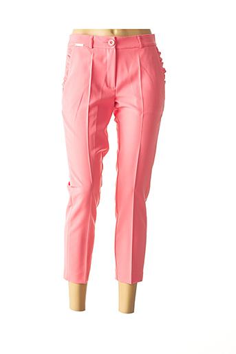 Pantalon 7/8 rose CRISTINA BARROS pour femme