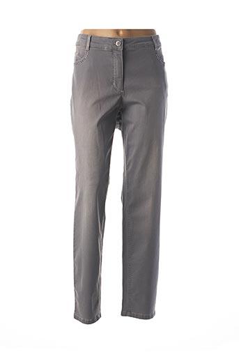 Jeans skinny gris BASLER pour femme