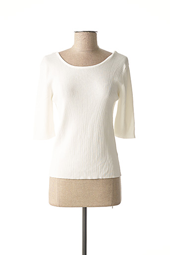 Pull col rond blanc MOLLY BRACKEN pour femme