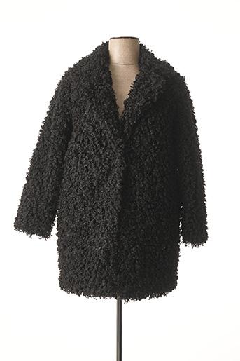 Manteau long noir FEELHOO pour femme