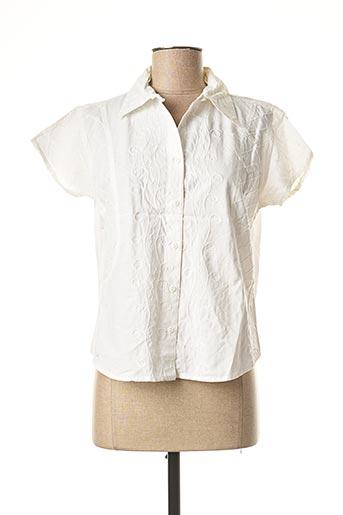 Chemisier manches courtes blanc JAC JAC pour femme