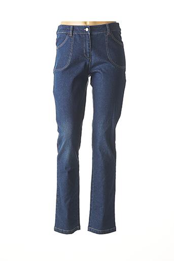 Jeans coupe droite bleu AGATHE & LOUISE pour femme