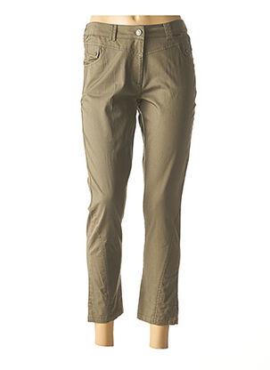Pantalon 7/8 vert AGATHE & LOUISE pour femme
