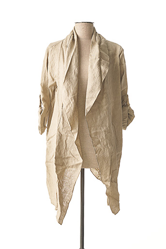 Veste casual beige MADE IN ITALY pour femme