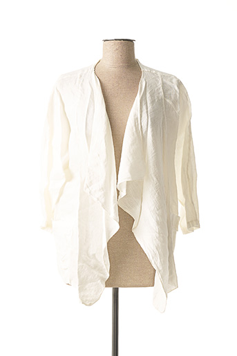 Veste casual blanc MADE IN ITALY pour femme
