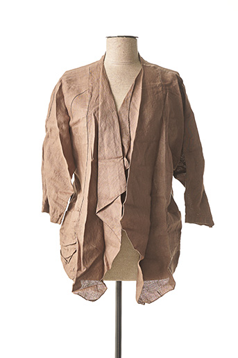 Veste casual marron MADE IN ITALY pour femme