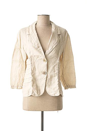 Veste chic / Blazer beige MADE IN ITALY pour femme