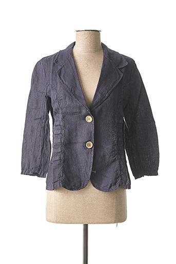 Veste chic / Blazer bleu MADE IN ITALY pour femme