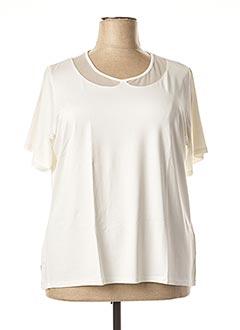 T-shirt manches courtes blanc FRANCE RIVOIRE pour femme