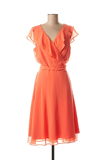 Robe mi-longue orange MICHAELA LOUISA pour femme