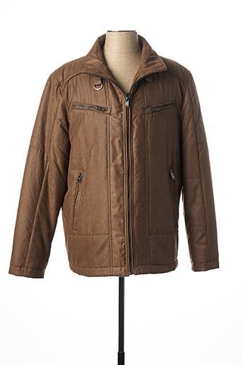 Manteau court marron JUPITER pour homme