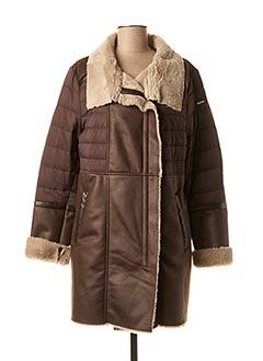Manteau long marron DIANE LAURY pour femme
