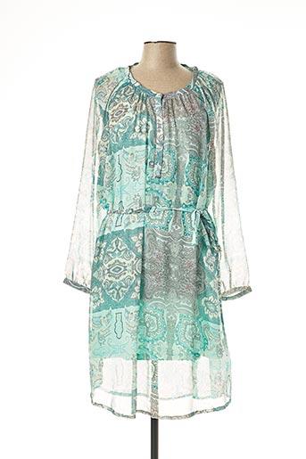 Robe mi-longue vert FRANSA pour femme