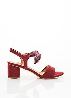 Sandales/Nu pieds rouge ELUE PAR NOUS pour femme