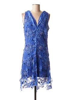 Robe mi-longue bleu FAUST pour femme