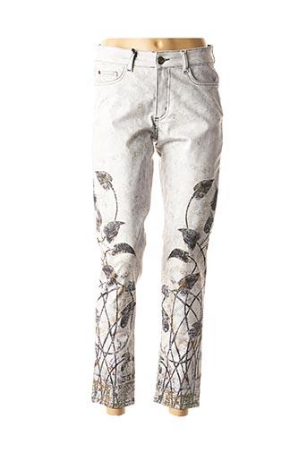 Pantalon 7/8 gris DOLCEZZA pour femme