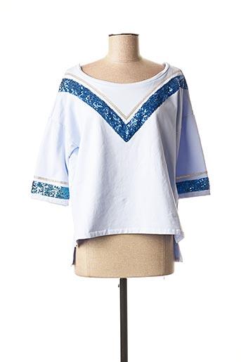 Sweat-shirt bleu POUPÉE DE SOIE pour femme