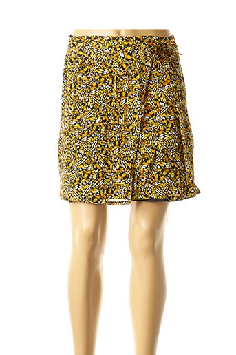 Jupe courte jaune COMPAÑIA FANTASTICA pour femme