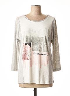 T-shirt manches longues gris BRANDTEX pour femme