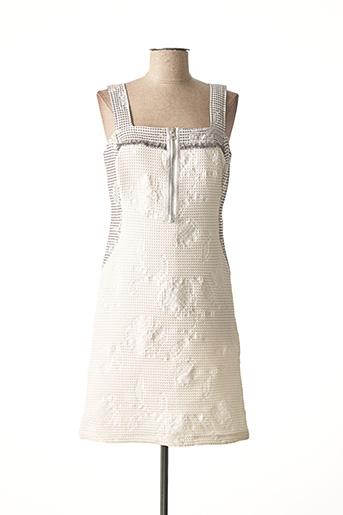 Robe courte blanc BLEU D'AZUR pour femme