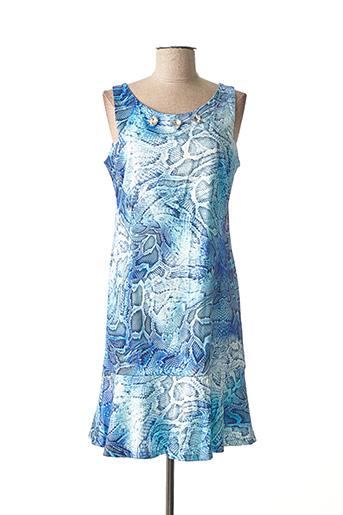 Robe courte bleu BLEU D'AZUR pour femme
