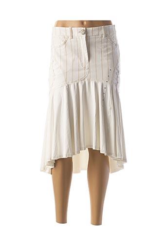 Jupe mi-longue beige DANIELA DALLAVALLE pour femme