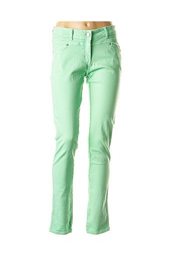 Jeans coupe slim vert BANDOLERA pour femme