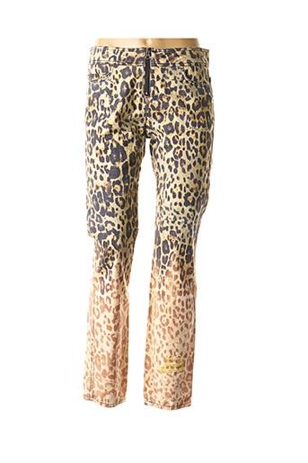 Jeans coupe slim vert DANIELA DALLAVALLE pour femme