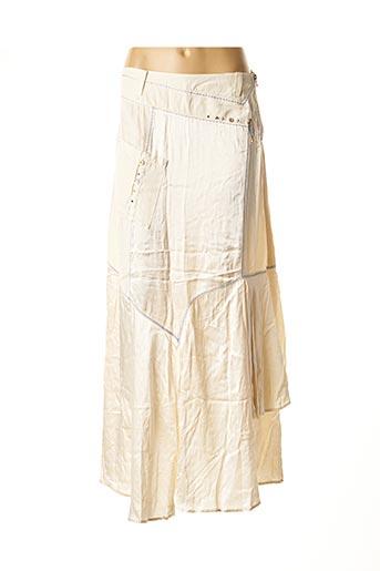 Jupe longue beige DANIELA DALLAVALLE pour femme